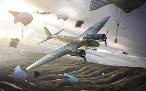 Picture Wargaming.net, Warld of Warplanes, Ju-88P, balloon
