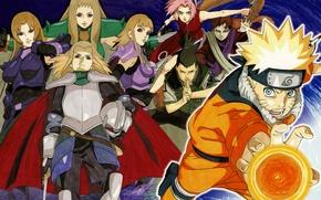 Picture armor, cloak, Naruto, Sakura, Naruto Uzumaki, chakra, rasengan, Shikamaru, Gaara, Naruto shippuuden, Temujin, art masashi …