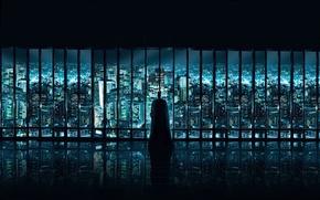 Wallpaper Batman, Window, the city