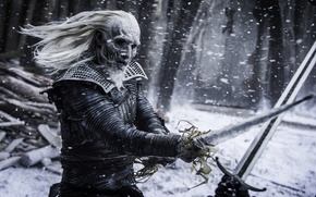 Wallpaper Snowflakes, Drama, White, 2016, Sword, Home Box Office, warrior, year, FOX life, Duel, Ross Mullan, ...
