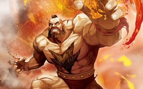 Picture power, street fighter, zangief