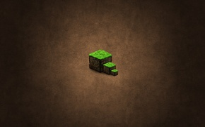 Picture cubes, brown, minecraft