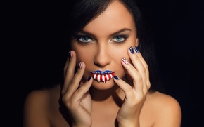 Picture look, girl, hands, makeup, USA, photographer, manicure, face, Babydov Ivan