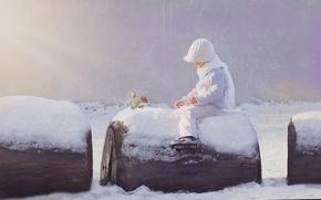 Picture winter, snow, boy, protein