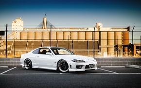Picture white, S15, Silvia, Nissan, white, Nissan, tuning, Silvia