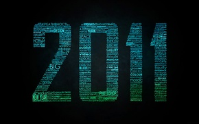 Wallpaper typography, words, new year, 2011