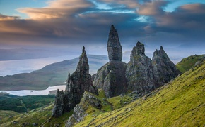 Picture mountains, stones, rocks, slope, Scotland