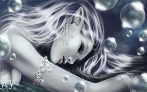Picture decoration, bubbles, elf, earrings, fantasy, bracelet, bubbles, fantasy, Elf, jewelry, earrings, bracelet