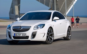 Picture White, Machine, Logo, Opel, Insignia, Opel, Car