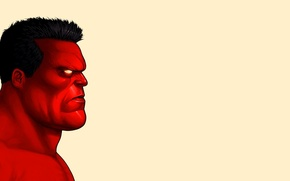 Picture face, Red Hulk, Red Hulk
