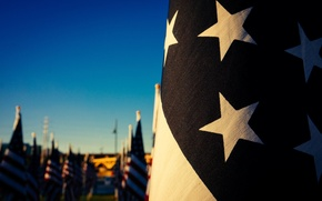 Picture red, USA, white, blue, stars, bokeh, flag, flags, states, America, American Flag, Stars and Stripes, …