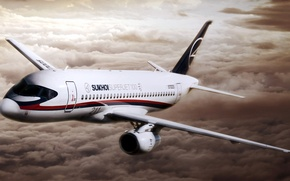 Picture the plane, superjet 100, sukhoi