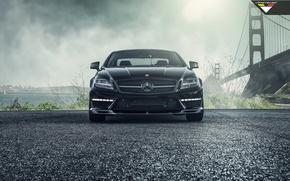 Picture car, bridge, black, mercedes-benz, Mercedes, tuning, amg, vorsteiner, cls63