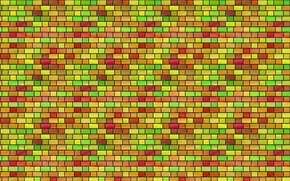 Picture background, wall, mesh, color, contour, stained glass, bricks, grille, texture