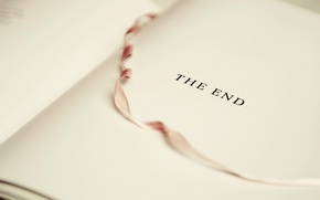 Picture book, the end, bookmark, white sheet