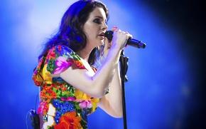 Picture microphone, singer, Lana Del Rey, Coachella