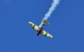 Picture the sky, flight, the plane, smoke, North American T-6G Texan PR-TIK