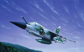 Picture painting, jet, Dassault Mirage F1, art