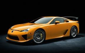 Picture machine, widescreen, cars, yellow, lexus lfa, yellow Lexus