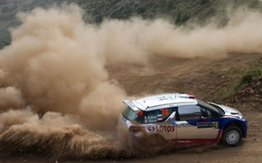Picture Dust, Citroen, DS3, Rally, Kubica, Acropolis, WRC2