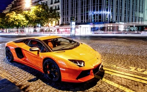 Picture street, Lamborghini, supercar, Lamborghini, LP700-4, Aventador, aventador, 2014