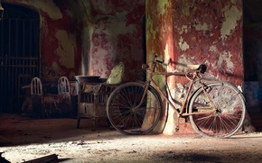Picture light, bike, room