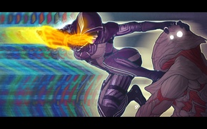 Picture mass effect, art, fan, Kasumi Goto, Collector, master thief