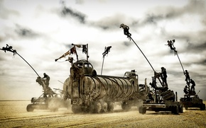 Picture machine, desert, chase, truck, warriors, Mad Max, Fury Road, Mad Max, Road rage