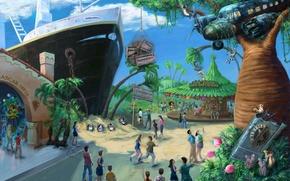 Picture Tree, Figure, The plane, People, Leo, The ship, Zebra, Animals, Madagascar, Madagascar, Penguin, Carousel, FOSS, …