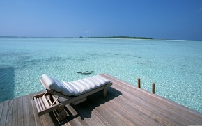 Picture The ocean, Pier, Island, Couch