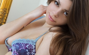 Wallpaper girl, linen, beautiful