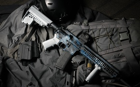 Wallpaper background, AR 15, assault rifle, style, weapons