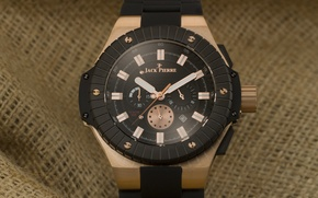 Picture black, watch, fabric, Jack Pierre, bronze