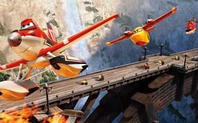 Picture machine, bridge, cartoon, planes of spasateli, PLANES FIRE & RESCUE
