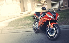 Picture red, motorcycle, red, Yamaha, Blik, motorcycle, Yamaha, YZF-R6
