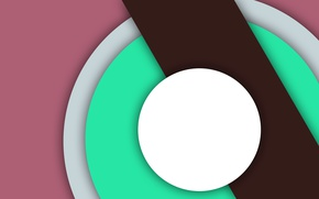 Picture white, circles, abstraction, pink, line, geometry, green, design, material