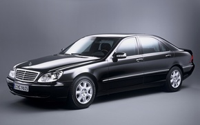 Picture black, mercedes-benz, w220