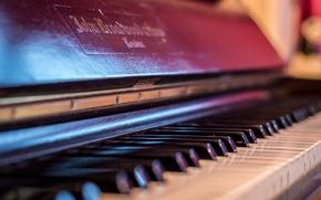 Picture macro, background, piano