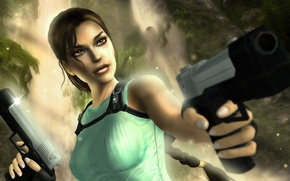 Picture gun, Tomb Raider, Lara Croft