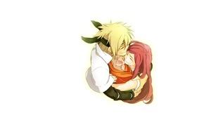 Picture love, minimalism, anime, family, father, pair, naruto, Naruto, child, Hokage, mother, Uzumaki, Minato, Namikaze, Kusina, …
