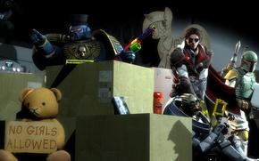 Picture garrus vakarian, Ezio Auditore da Firenze, boba fett, Power Armour