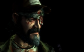 Picture sadness, The game, Kenny, Male, The Walking Dead, one eye