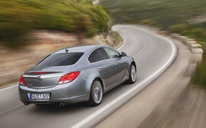 Wallpaper Machine, Opel, BiTurbo, Road, Insignia, Opel, Car, Grey