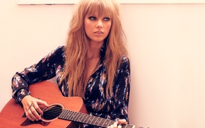 Picture guitar, beauty, singer, Taylor Swift