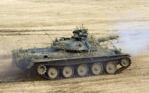 Picture field, tank, combat, Japanese, Type 74