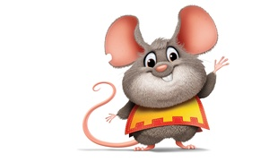 Picture mouse, art, rat, children's, musketeer