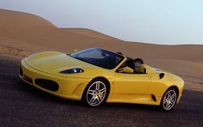 Picture yellow, Ferrari, Ferrari, spider, Spider