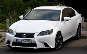 Picture White, Lexus, Sedan, F Sport, Hybrid, Handsome, GS450h