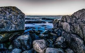 Picture sea, stones, coast, Norway, Norway