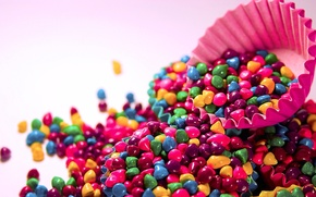 Picture purple, green, background, pink, Wallpaper, mood, bright, colored, candy, form, candy, cupcake